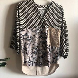 Zara Collection color block tunic in SMALL